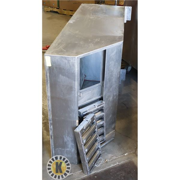 """S/S EXHAUST HOOD W/ 2 FILTERS 63"""" BY 36"""" BY 19"""""""