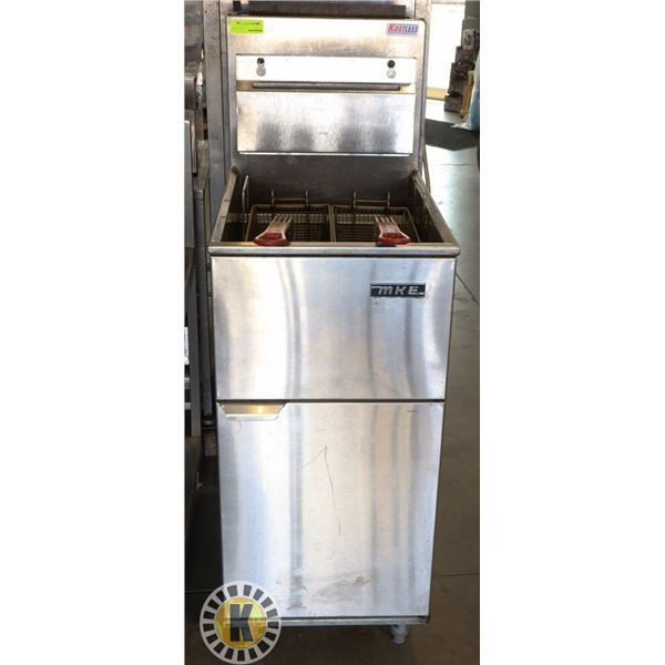 MKE NATURAL GAS DEEP FRYER WITH 2 BASKETS