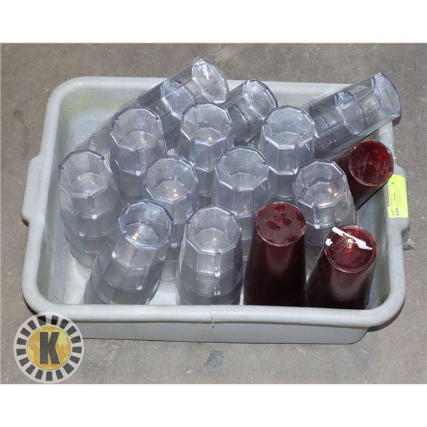 PLASTIC GLASS-LIKE CUPS