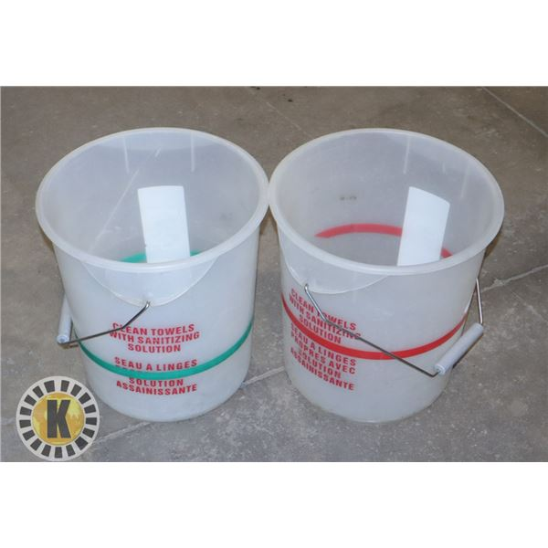 3 LARGE  PALES/BUCKETS