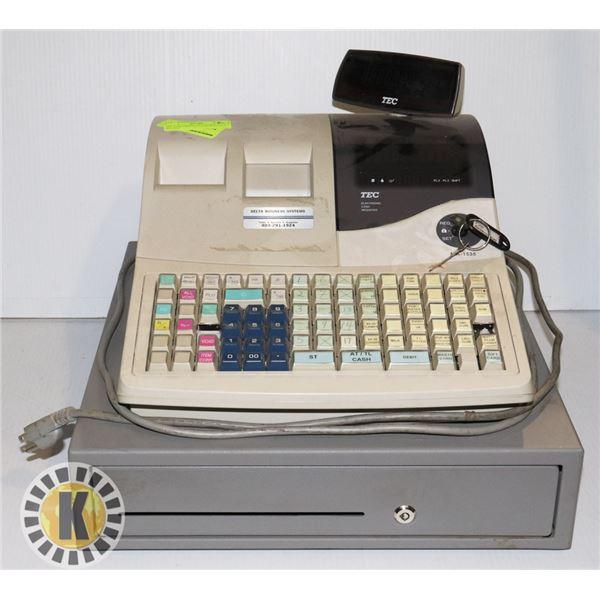 TEC ELECTRONICS CASH REGISTER- MA-1535