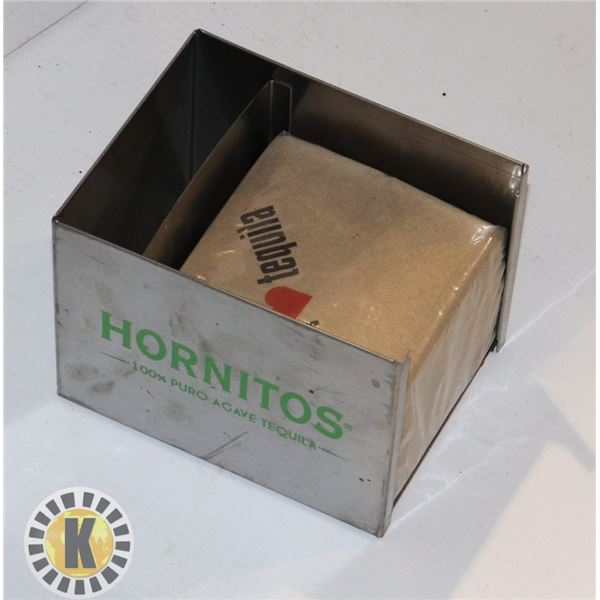 HORNITOS NAPKIN HOLDER WITH NEW TEQUILA