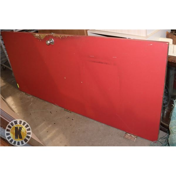 """COMMERCIAL RED DOOR- 83"""" BY 35.5"""" TRADITIONAL STYLE"""