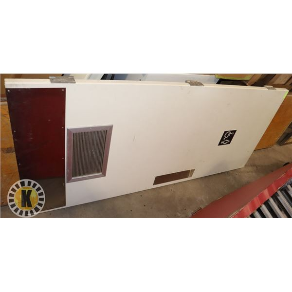 """COMMERCIAL WHITE DOOR- 83"""" BY 35.5""""."""