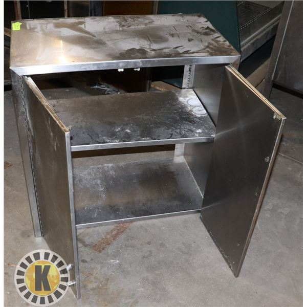 """STAINLESS STEEL CABINET WITH DOORS 30""""BY30""""BY16"""""""