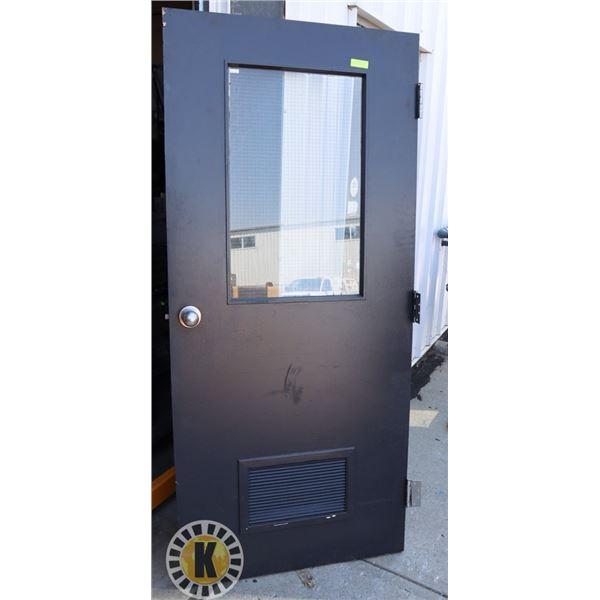 """COMMERCIAL METAL SECURITY DOOR 79"""" BY 32"""""""