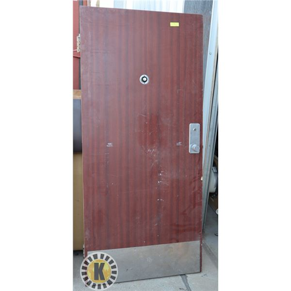 COMMERCIAL SECURITY DOOR WITH EYE VIEWER,