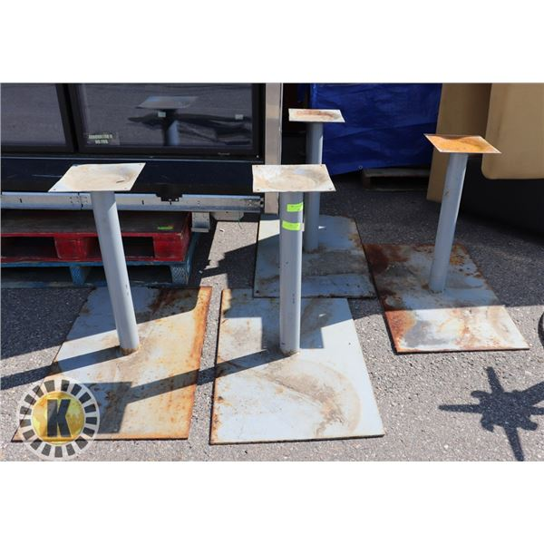 4 HEAVY DUTY METAL TABLE STAND