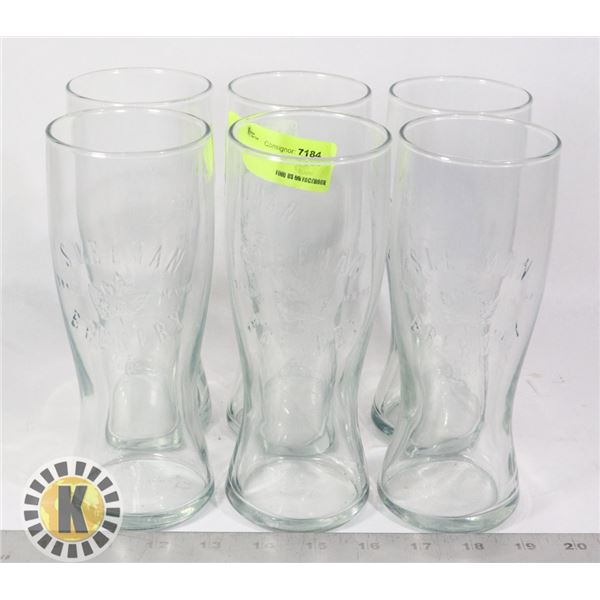 6 SLEEMAN GLASS CUPS