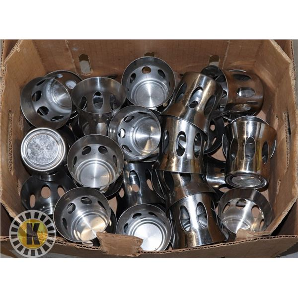 31 STAINLESS STEEL CANDLE HOLDERS WITH LID