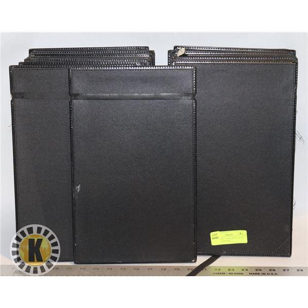 FLAT BOX OF LARGE RESTAURANT MENU PAD/BINDER