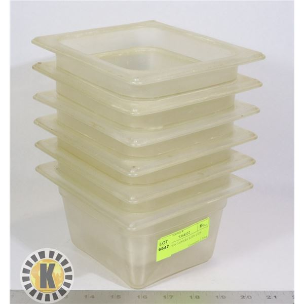 6 TRUE CONTAINERS WITH LIDS