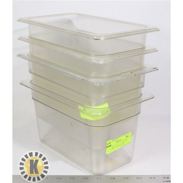 """4 CAMBRO 1/4"""" BY 6"""" CAMWEAR CONTAINER- TRANSPARENT"""