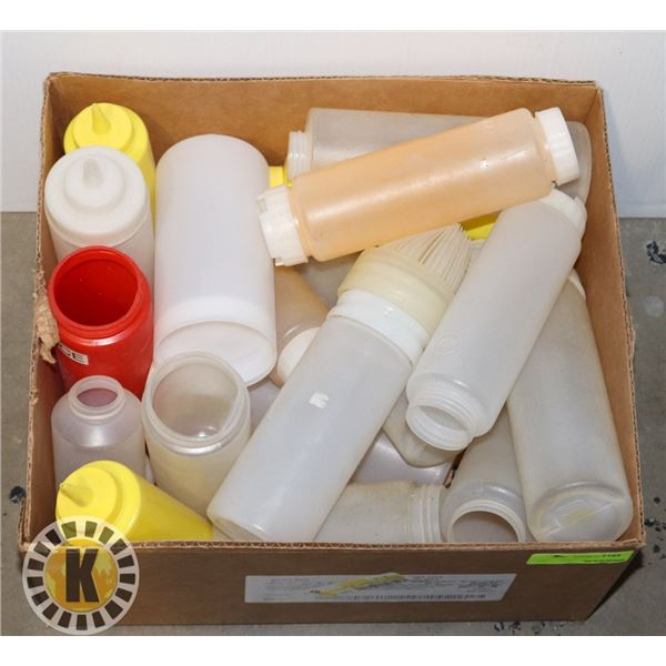 LARGE BOX OF SQUEEZE BOTTLES