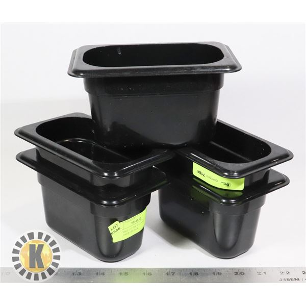 """5 CAMBRO 1/9"""" BY 4"""" CAMWEAR CONTAINER- BLACK"""