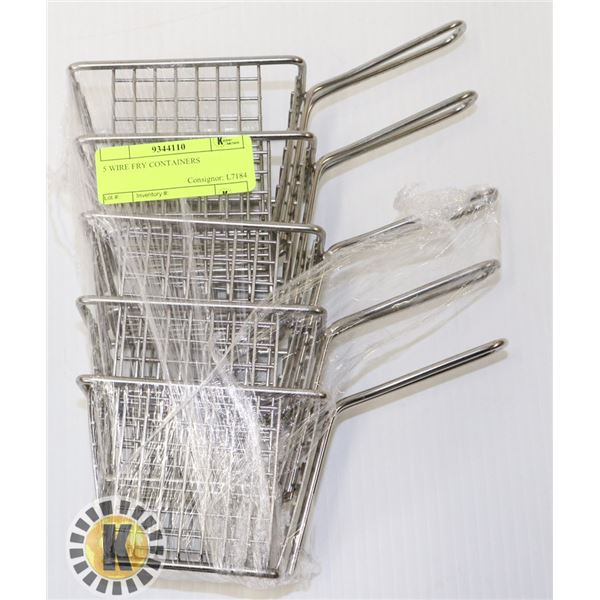 5 WIRE FRY CONTAINERS