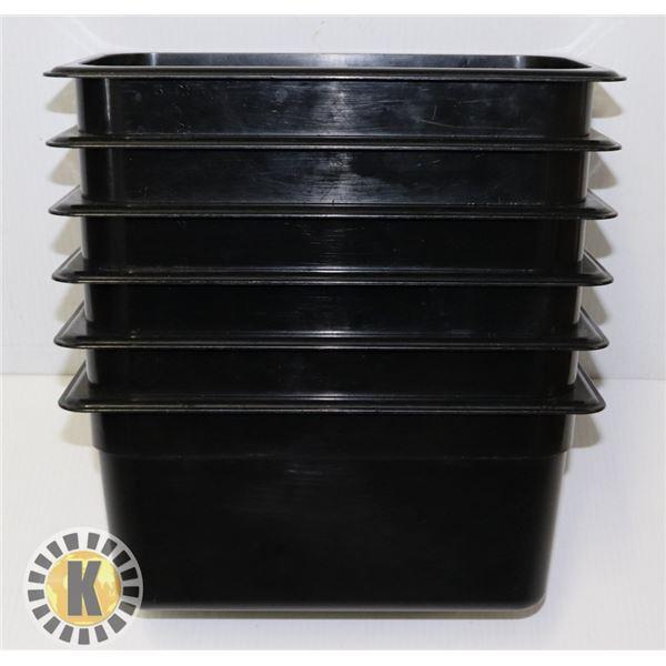 """6 LARGE CAMWEAR PANS- 1/3"""" - 6"""""""