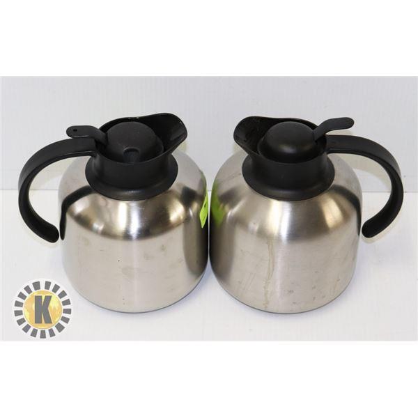 2 INSULATED COFFEE POTS FOR COMPACT BUNN COFFEE MACHINE