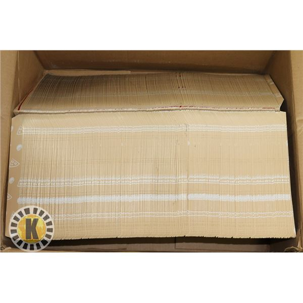 CASE OF PIZZA CLAMSHELL BOX (OPENED)