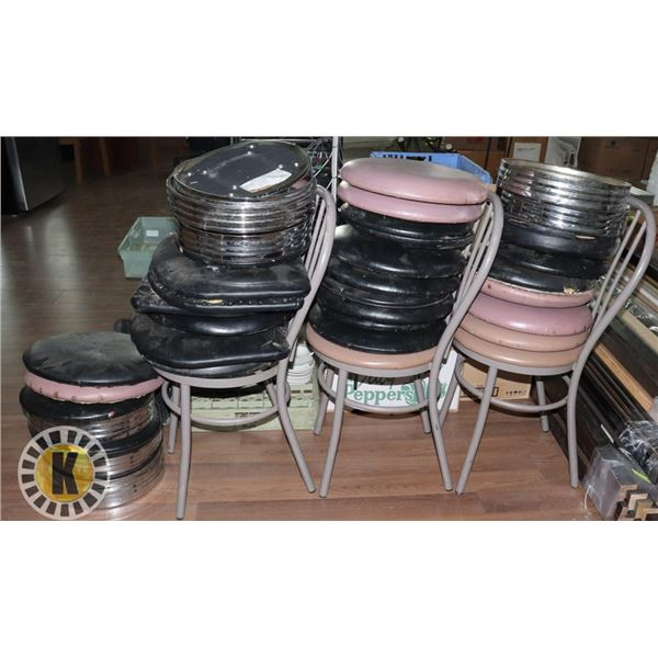 STACK OF CHAIRS AND CHAIR TOPS