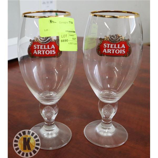 2 STELLA PINT GLASSES