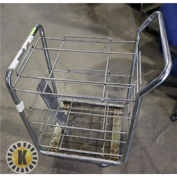 """SERVICE CART ON CASTERS APPROX. 29"""" WORKING HEIGHT"""