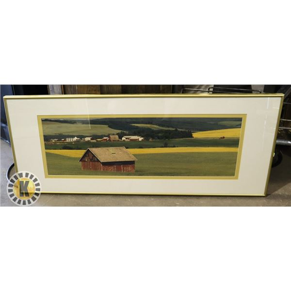 """WALL ART/ DECOR  40"""" BY 16""""-GOLD COLOR FRAME"""