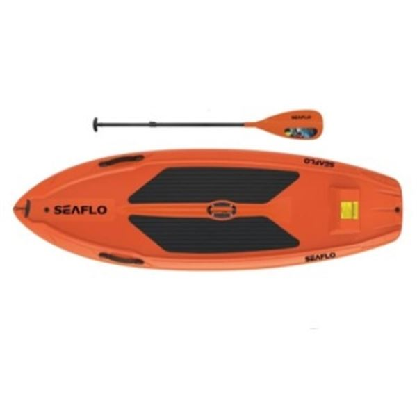 BRAND NEW ORANGE 9.5FT SEAFLO STAND UP PADDLE BOARD W/ PADDLE