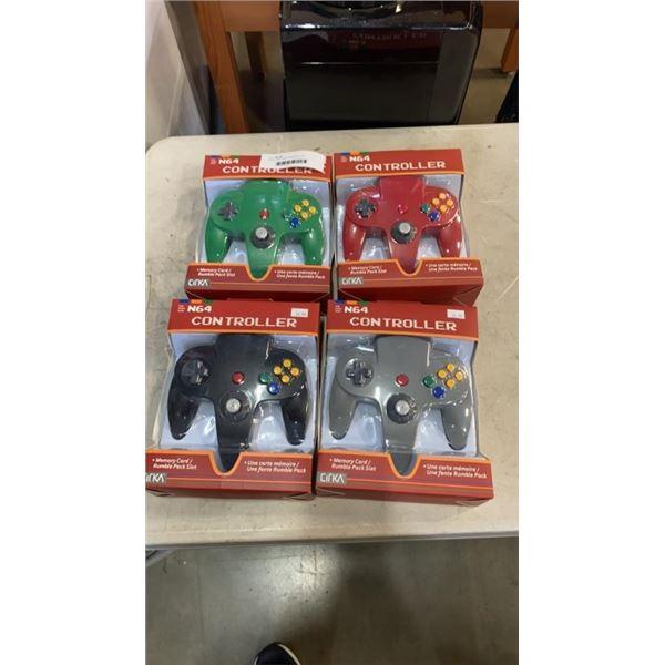 4 NEW CIRKA N64 CONTROLLERS