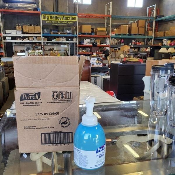4 CASES OF PURELL HEALTHY SOAP HIGH PERFORMANCE FOAM SOAP - 16 BOTTLES TOTAL