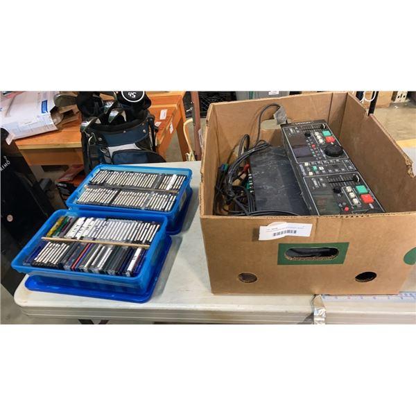 DENON DN-M300R MIDI RECORDER, MIXER AND DENON DM-M2300R AMPLIFIER AND MIDI DISCS