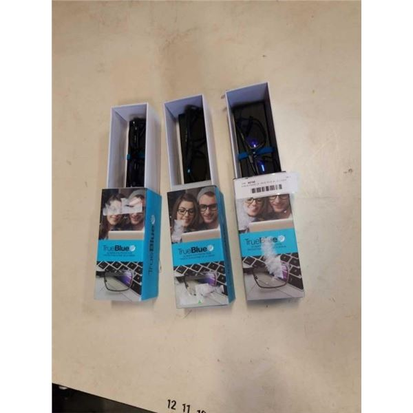 3 NEW PAIRS OF TRUETRUE BLUE LIGHT GLASSES - EXTEND, CHANCE, SWAG