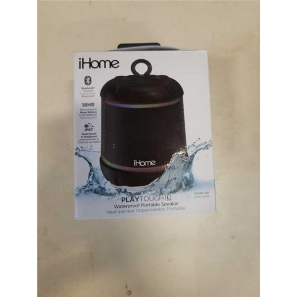 IHOME PLAYTOUGH BLUETOOTHER SPEAKER - TESTED AND WORKING