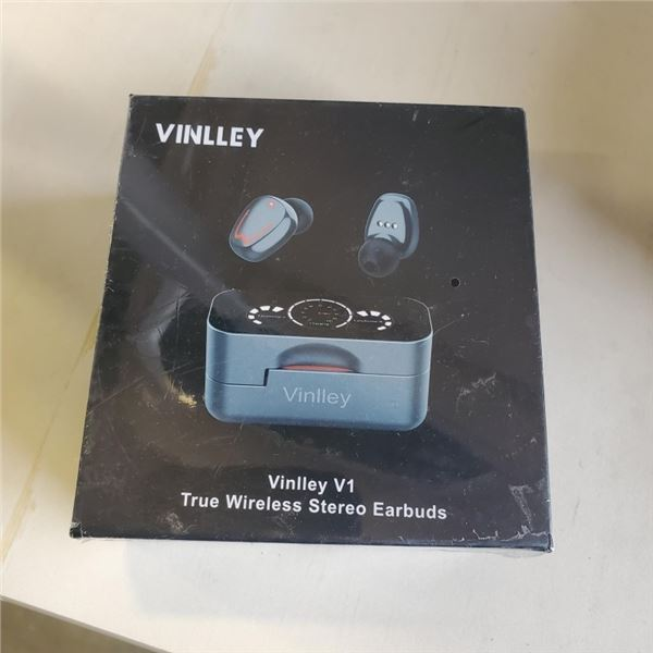NEW SEALED VINLLEY TRULEY WIRELESS BLUETOOTH EARBUDS WITH CHARGING CASE