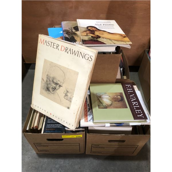 Five boxes of books on art