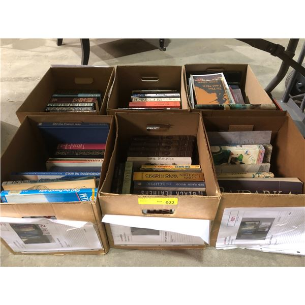 Six boxes of assorted hardcover books from the love show
