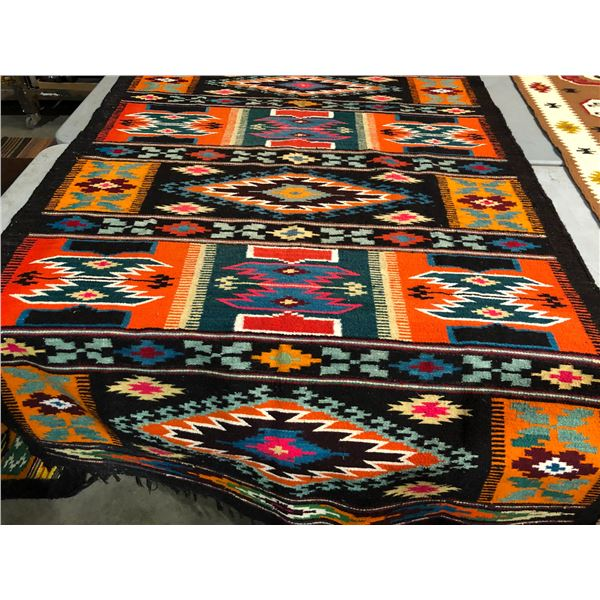 Native American First Nations hand-woven Navajo rug - approx. 78in x 52 1/2in