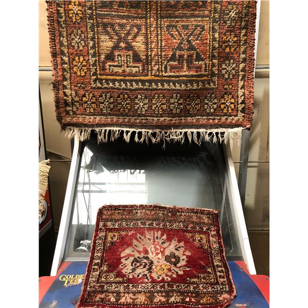 Two small Persian rugs (well worn)