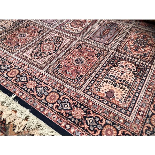 Large Persian area rug - approx. 8ft x 12ft (well worn in some spots)