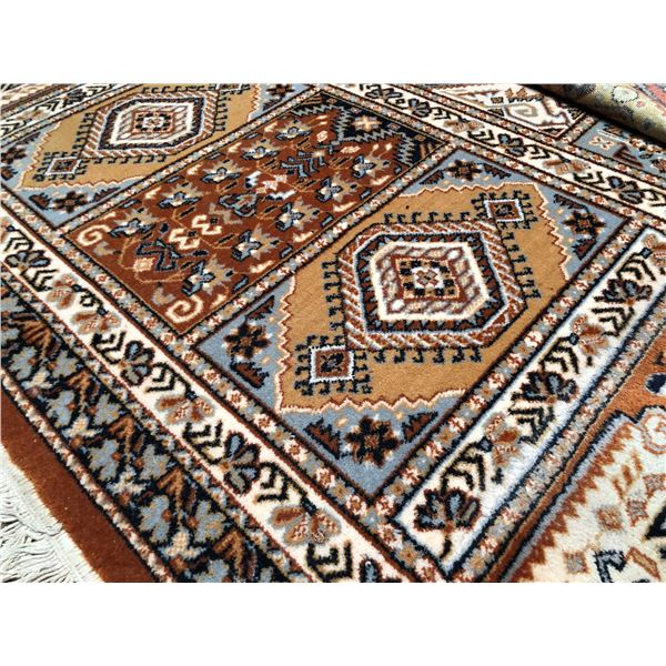 Large Persian area rug - approx. 8ft x 11ft (well worn in some spots)