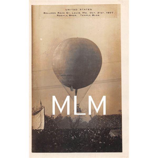 Hot Air Balloon Race St. Louis, Missouri Photo Postcard