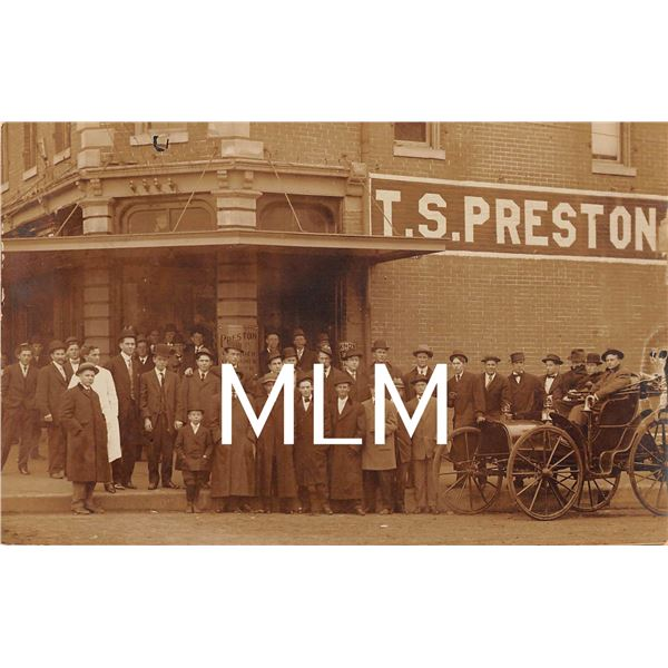 T.S. Preston Kahn Tailoring Co. Advertising Paris, Texas Photo Postcard