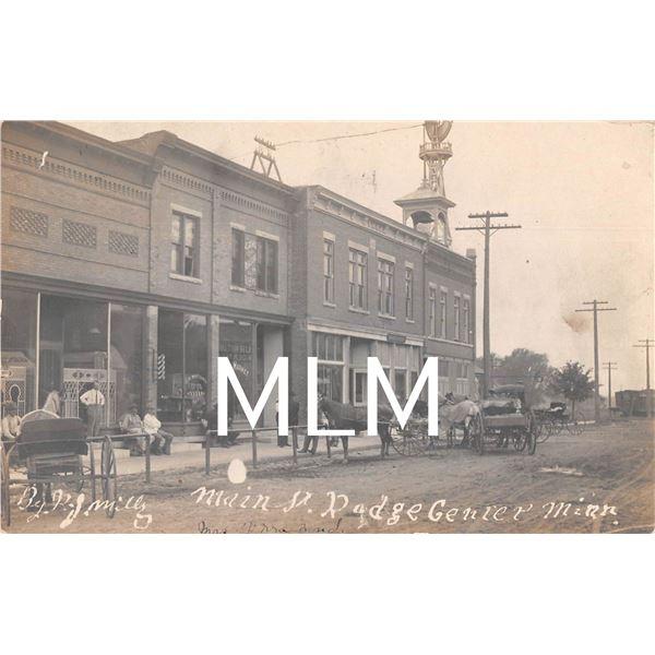 Store Front Main Street Dodge Center, Minnesota Photo Postcard