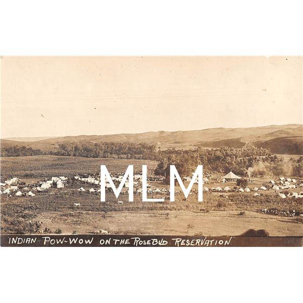 Indian Pow-wow on Rosebud Reservation, South Dakota Photo Postcard