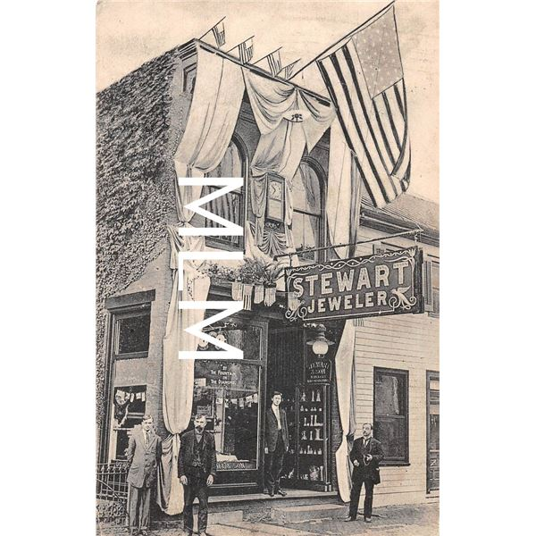 Stewart Jeweler Store Front Huntingdon, Pennsylvania Postcard
