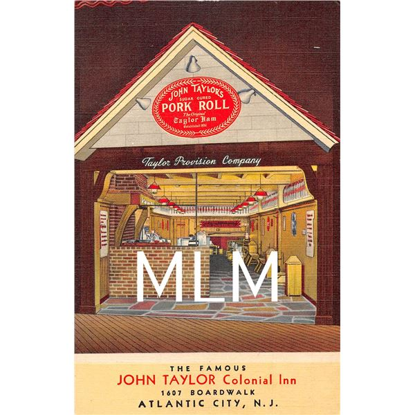 2 Linen Atlantic City Clicquot Club John Taylor Colonial Inn Postcards