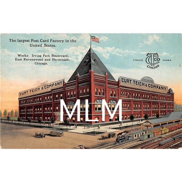 Curt Teich & Co., Inc. Largest Postcard Factory in USA Chicago, IL Postcard
