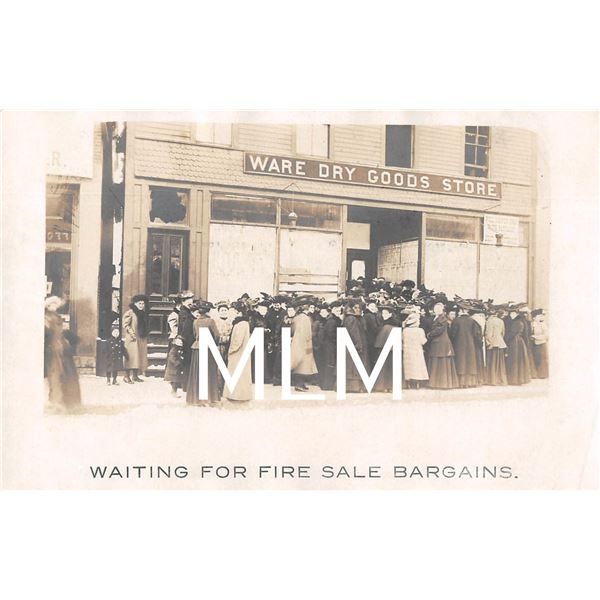 Ladies Waiting for Fire Sale Ware, Massachusetts Photo Postcard