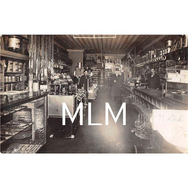 3 Men Store Interior Lisbon, North Dakota Photo Postcard