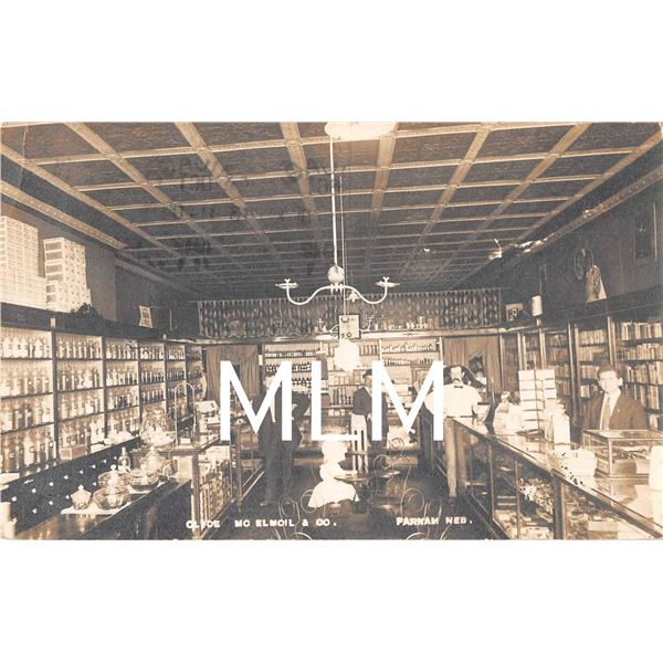 Store Interior Parnam, Nebraska Photo Postcard
